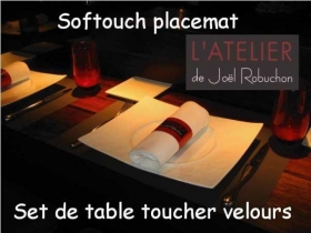 Antislip velvet touch placemats for restaurant and catering - Indutex - Gerex coating